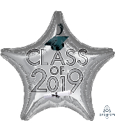 "18"" Class of 2019 - Silver Foil Balloon"