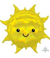 """27"""" Iridescent Sun Foil Balloon"""