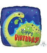 """18"""" Brontosaurus Happy Birthday Foil Balloon"""
