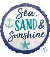 "18"" Sea, Sand & Sun Foil Balloon"