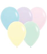"11"" Betallatex Pastel Matte Mixed Latex Balloons (100CT)"