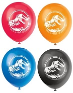 """12"""" 8 Count Jurassic World Balloons 2 Sided"""