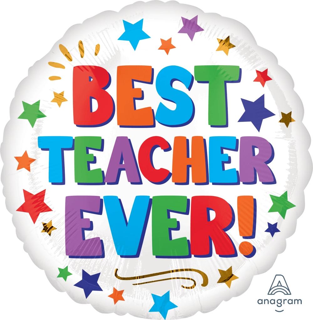 """18"""" Best Teacher Ever Foil Balloon"""