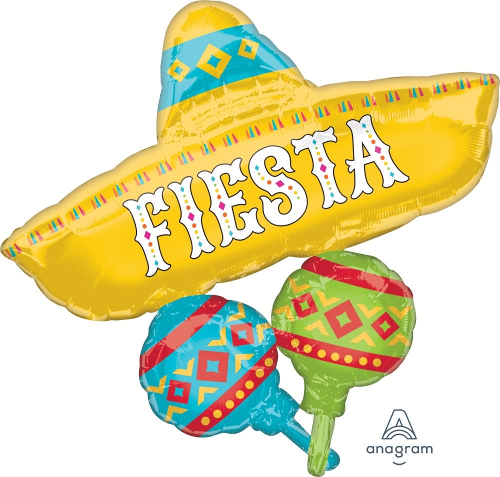 """32"""" Papel Picado Fiesta Cluster Foil Balloon"""