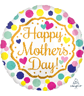 """18"""" Happy Mother's Day Touch of Gold Balloon"""