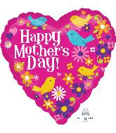 "18"" Happy Mother's Day Birds Balloon"