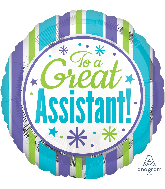 """18"""" Great Assistant Stripes Balloon"""
