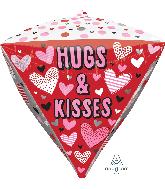 """17"""" Hugs, Kisses, & Hearts Diamondz Foil Balloon"""