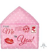 """16"""" Love Letter Junior Shape Foil Balloon"""