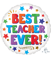 "18"" Best Teacher Ever Foil Balloon"