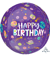 "15"" Smiling Galaxy Happy Birthday Foil Balloon"