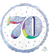 "18"" Holographic Jumbo Number Balloon Shape 70 Foil Balloon"