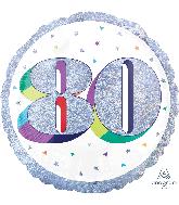 "18"" Holographic Jumbo Number Balloon Shape 80 Foil Balloon"