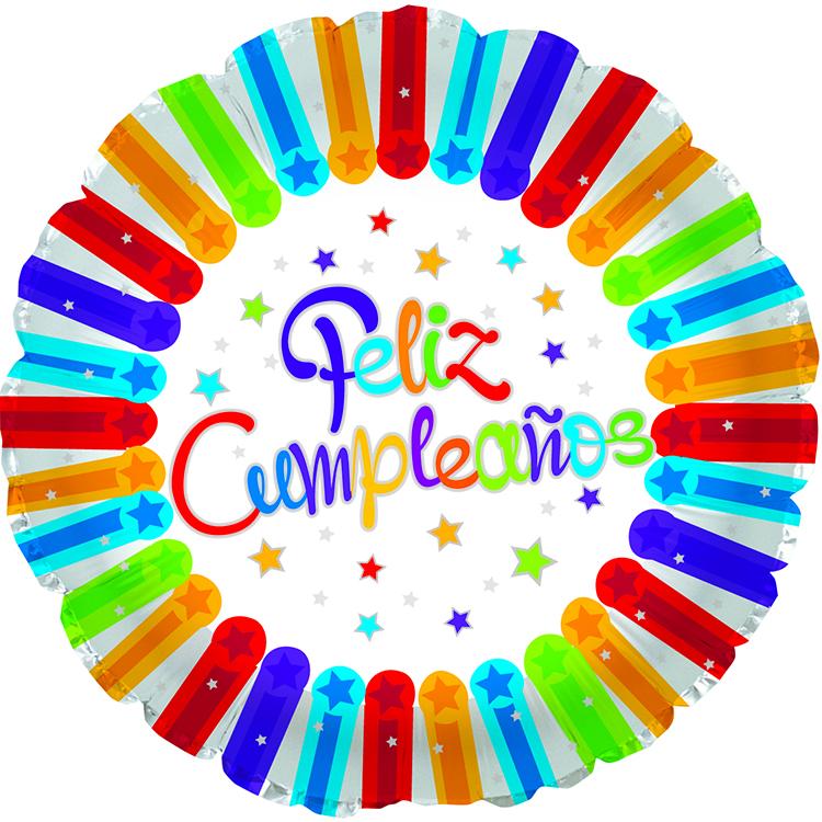 "17"" Feliz Cumpleanos Bright Stars Balloon"