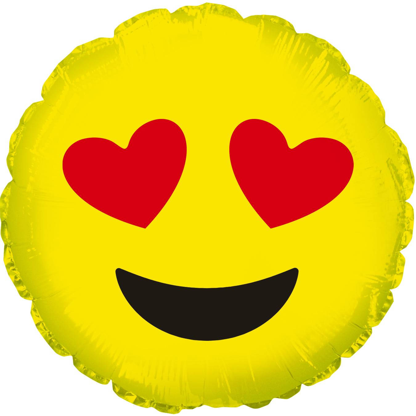 "18"" Emoji Emoticon Heart Eyes Balloon"