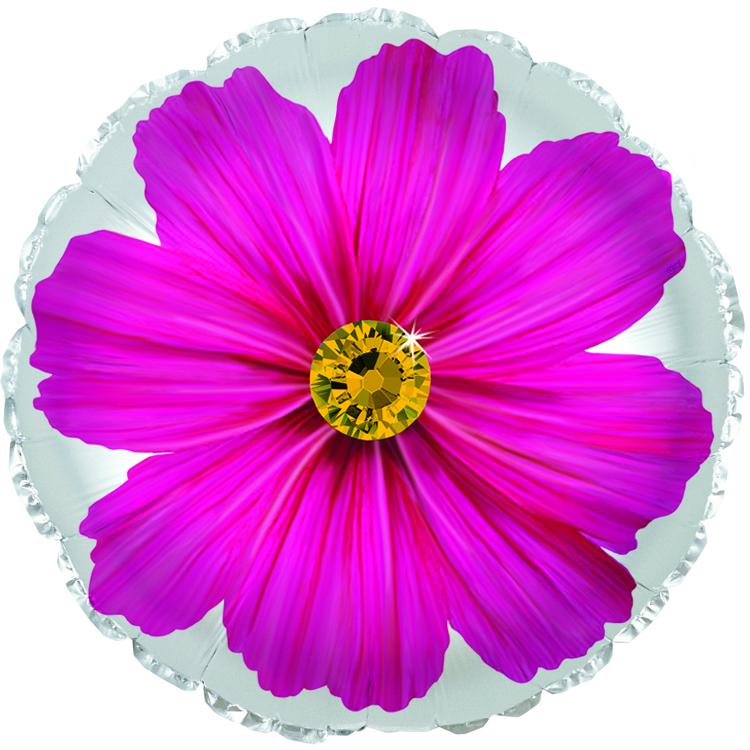 """17"""" Hot Pink Gerbera Flower Foil Balloon"""