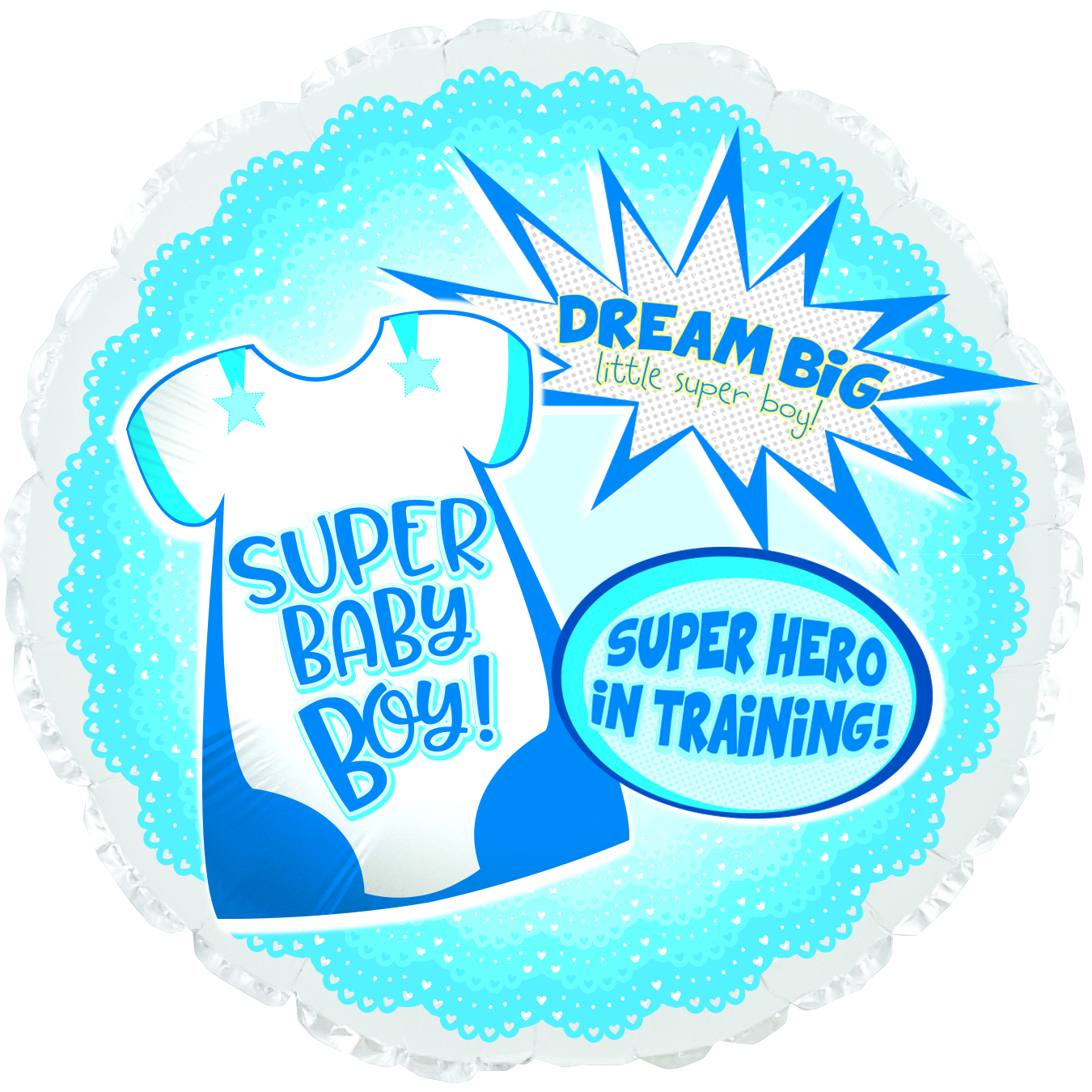 "18"" Super Hero Baby Boy Foil Balloon"