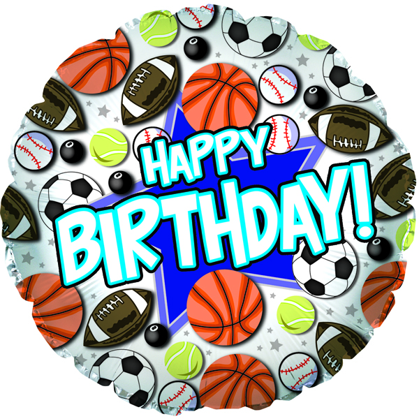 "18 "" Happy Birthday Sports CTI"