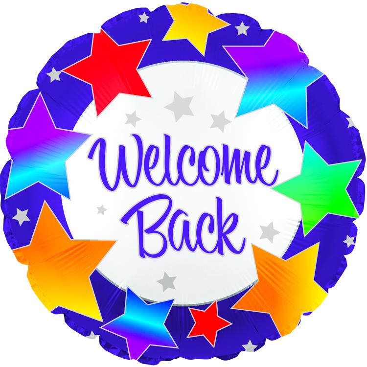 "18"" Welcome Back Rainbow Stars"