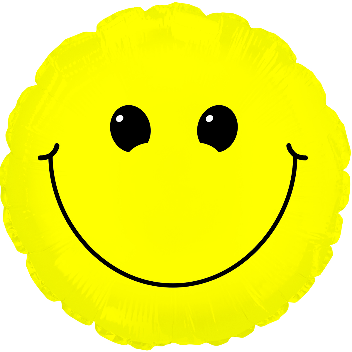 """31"""" Solid Yellow Smiley Face Balloon"""