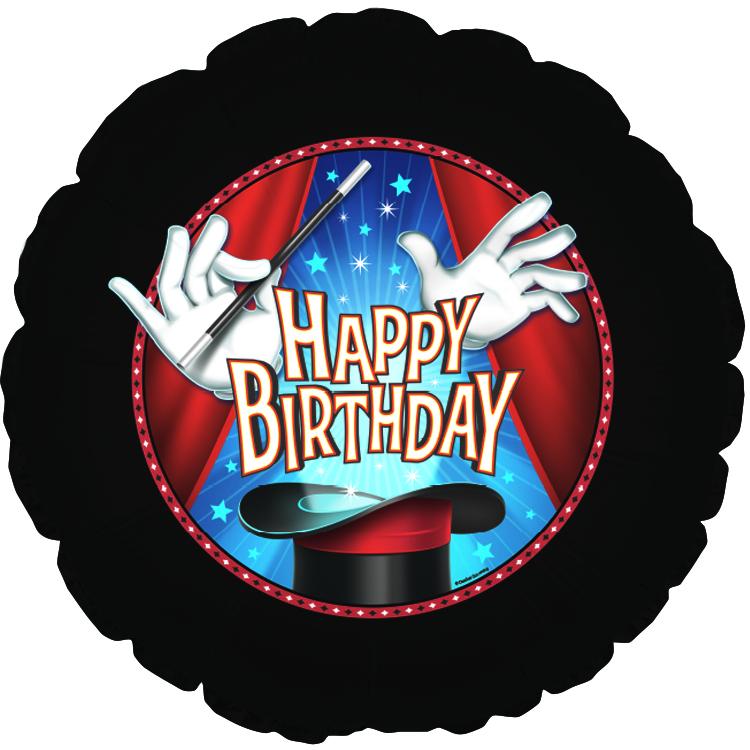 """18"""" Happy Birthday Magic Party Balloon"""