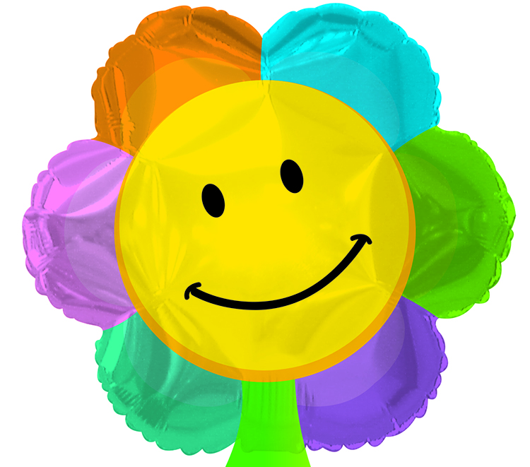 "17"" Smiley Face Flower Shape Balloon"