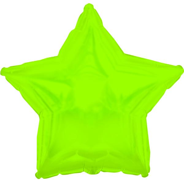 "18"" CTI Brand Lime Green Star"