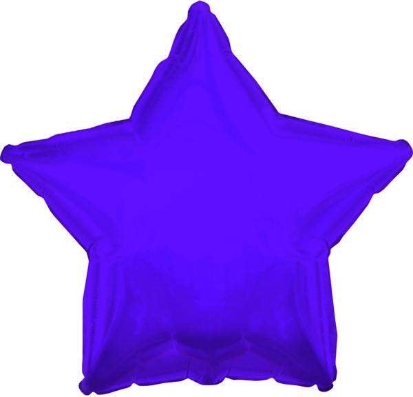 "17"" CTI Solid Purple Star Balloon"