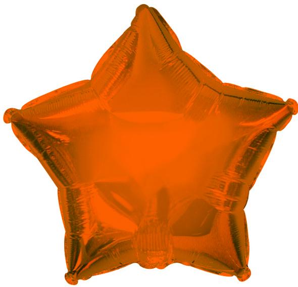 "9"" Orange Star Balloon"