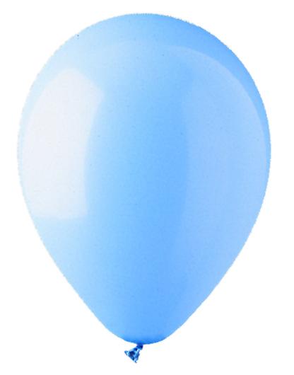 "12"" Standard Light Blue Latex (100 Per Bag)"