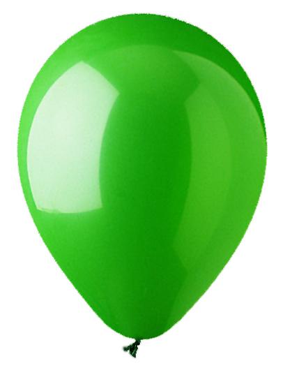 """12"""" Standard Green Latex (100 Per Bag)"""