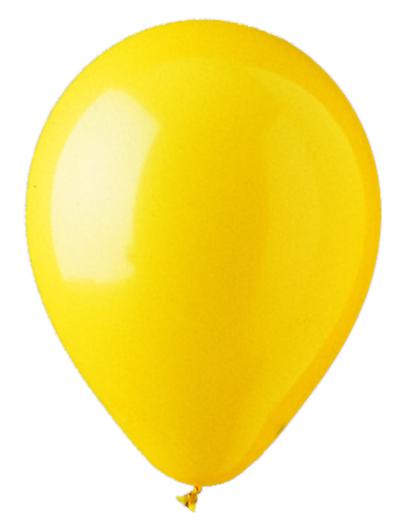 """12"""" Standard Yellow Latex (100 Per Bag)"""