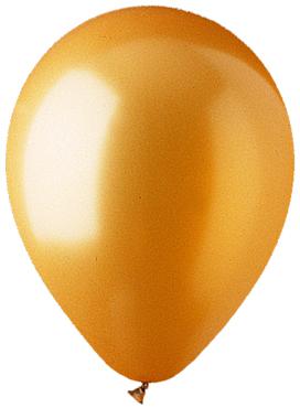 """12"""" Metallic gold Latex (100 Per Bag)"""