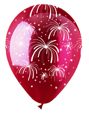 """12"""" Fireworks Crystal Red Latex 50Count"""
