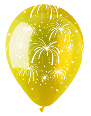 """12"""" Fireworks Crystal Yellow Latex 50Count"""