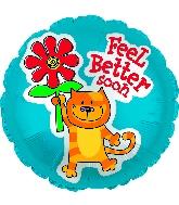 """17"""" Feel Better Soon Kitty Balloon"""