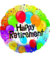 "17"" Happy Retirement Balloon"