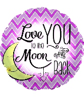 "18"" Love You To the Moon Pink Foil Balloon"