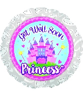 "18"" Get Well Soon Princess Foil Balloon"