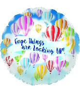 """18"""" Hope Looking Up! Foil Balloon"""