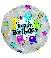 "17"" Little Happy Birthday Day Monsters Balloon"