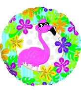 "18"" Flamingo Luau Balloon"