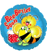 "17"" Bee Better Soon Foil Balloon"