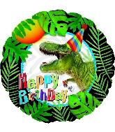 "18"" Happy Birthday Party Dinosaur Foil Balloon"