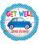 """17"""" Get Well Speedy Recovery Foil Balloon"""