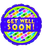"""18"""" Get Well Soon Bandages Balloon"""