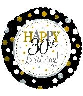 "18"" Happy 30th Birthday Foil Balloon"