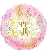 "9"" Happy Birthday Rose Gold Balloon"