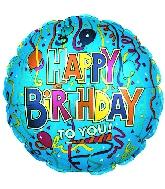 """9"""" Airfill Festive Birthday Blue M9"""