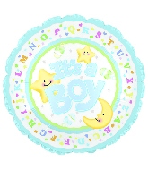 "9"" Airfill It's A Boy Moon & Stars M21"